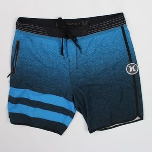 Hurley Phantom board shorts blue black speckled